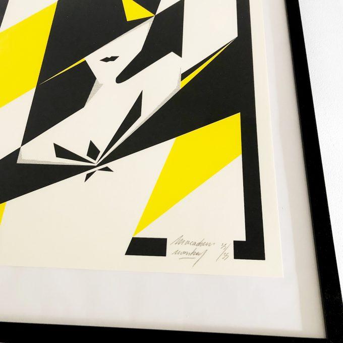 Affiche de Macadam Monkey, Femme Vitrail, serigraphie 2 couleurs. 35 ex.